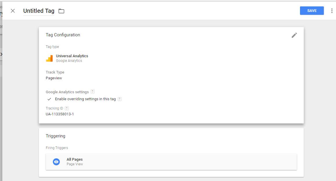 add google analytics on GTM