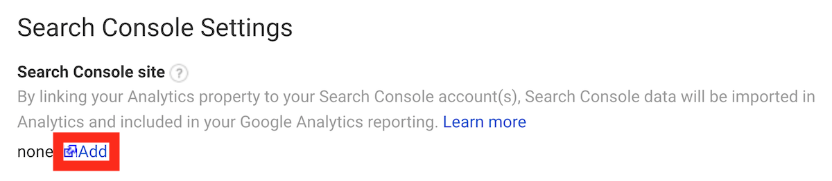 Google Search Console link analytics add GSC