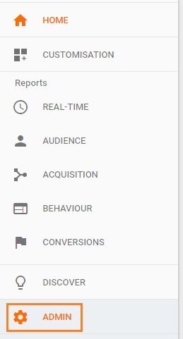 Google Search Console link analytics admin