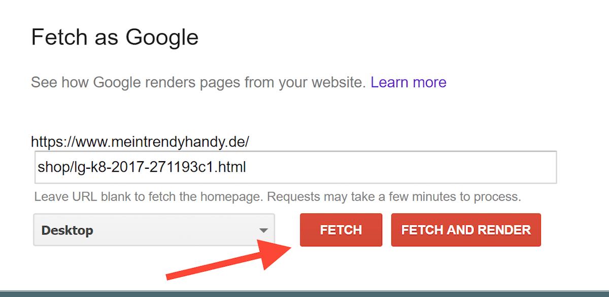 فتچ کردن صفحه در گوگل