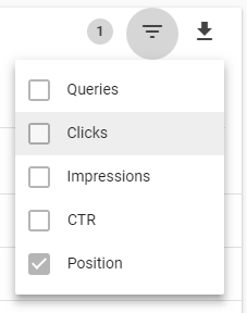 فیلتر سازی بخش گزارش عملکرد گوگل سرچ کنسول جدید