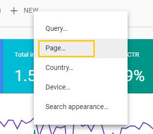 """کافیه از نوار بالا روی """"+ New"""" کلیک کنید و Page رو انتخاب کنید."""