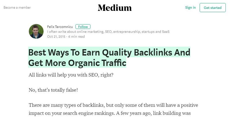 سایت medium بک لینک رایگان