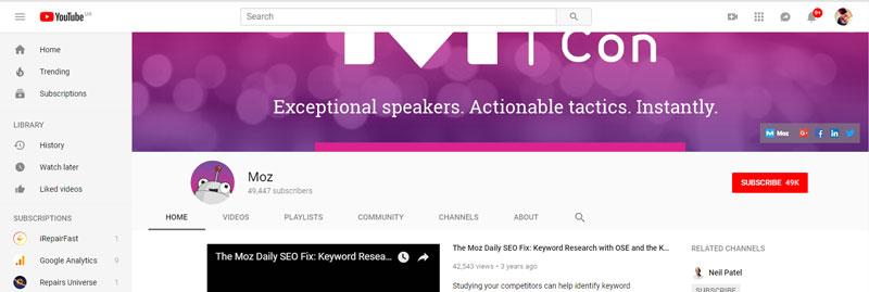 سایت یوتوب برای ساخت بک لینک رایگان
